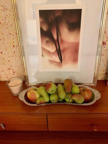 Поднос фруктовница металлическая