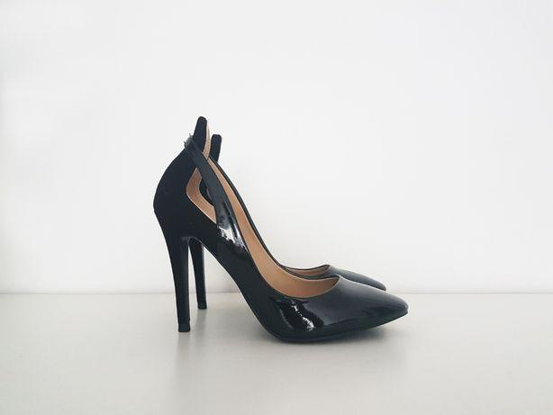 Szpilki czarne buty na obcasie ZARA rozmiar 37