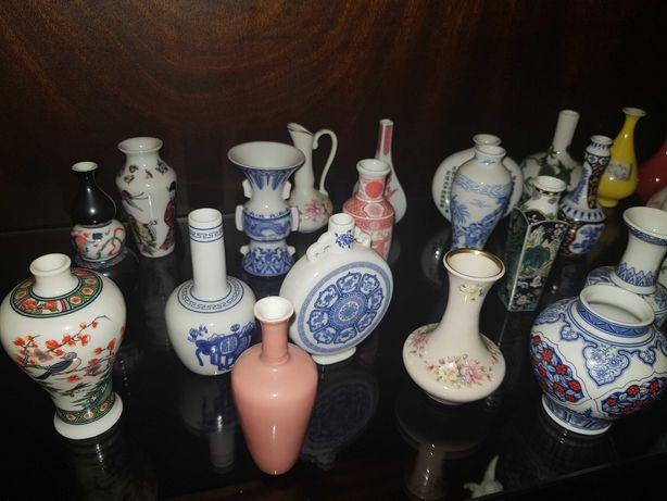 24 vasos imperiais de coleção da autêntica e maravilhosa arte oriental