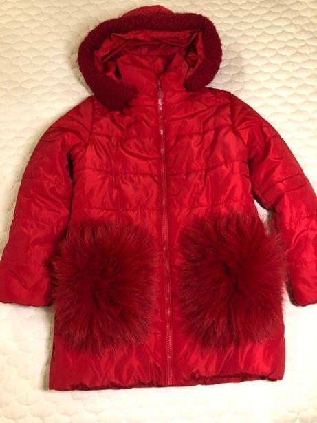 Зимняя куртка-пуховик на девочку р.34