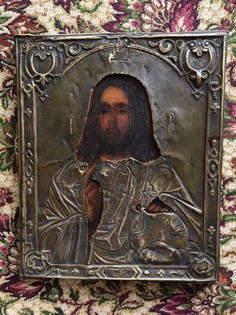 18-19 століття Ікона анткварна Господь Вседержитель