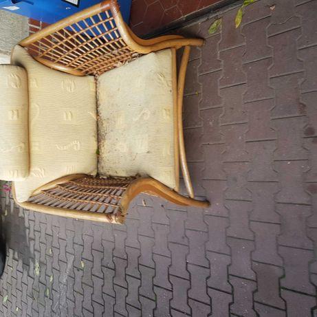 Fotel ratanowy, fotel ogrodowy, piękny fotel,