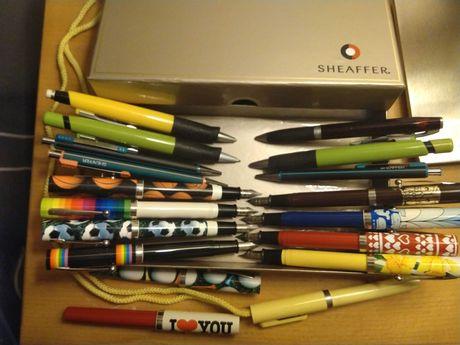 18 Conjunto lapiseiras/ canetas sheaffer