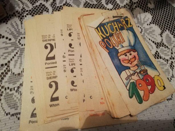 Kalendarz - karta z kalendarza 1990 rok kalendarz zdzierak