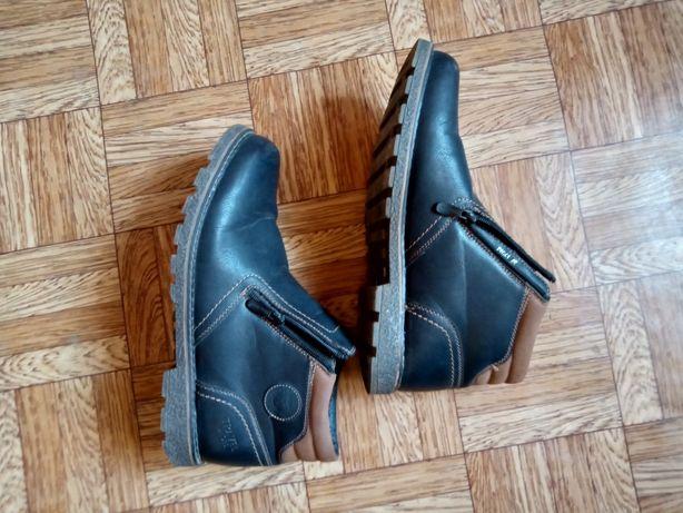 Зимние ботинки на меху(рыбьем).