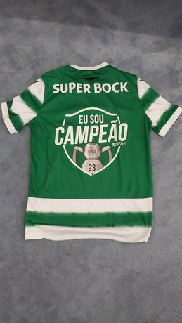 Camisola Sporting 2020/2021 Eu sou campeão autografada