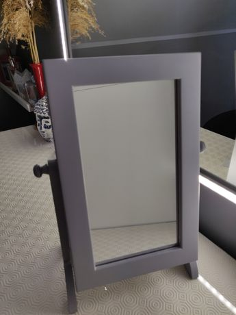 Toaletka z lustrem i szafka / organizer na biżuterię, szara