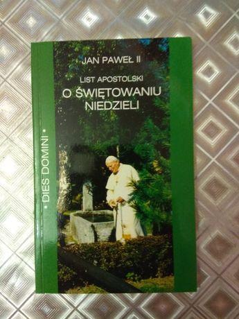 List apostolski o świętowaniu niedzieli Jan Paweł II