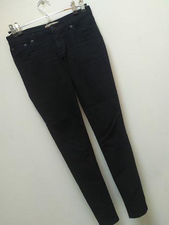 Levi's  36 s super skinny710 Spodnie rurki czarne klasyczne