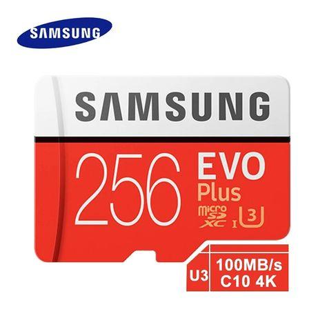 Оригинал Карта памяти Samsung micro sd EVO U3  128 256GB  class 10