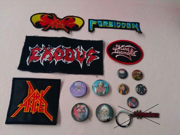 Patchs-palhetas-pins-Dark Angel, King Diamond,Exodus,Forbiden,Kreator