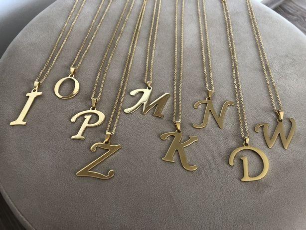 Litery literka gwiazd nowe zawieszka duża 4 cm okazja prezent