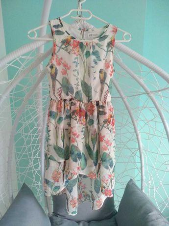 Sukienka dziewczęca H&M rozmiar 134
