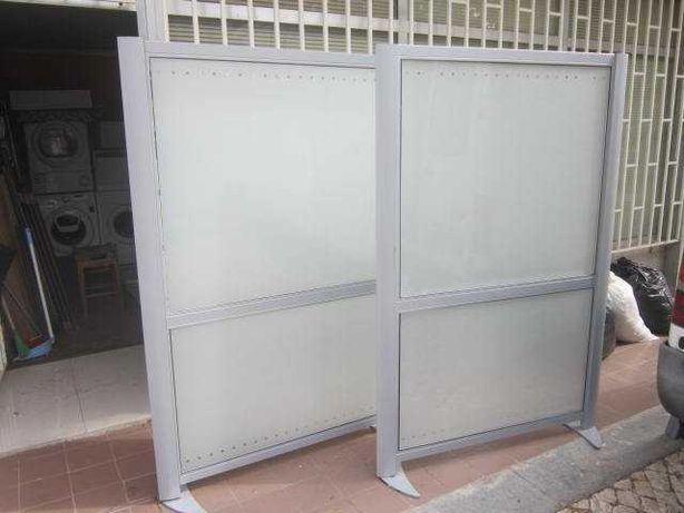 biombo vidro duplo fosco (com entrega)