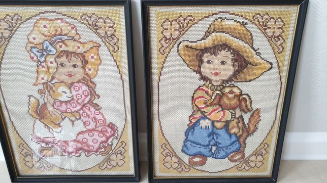 Sprzedam dwa haftowane obrazki