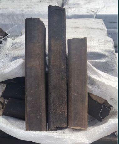 Топливные брикеты ,древесина с лузгой риса.