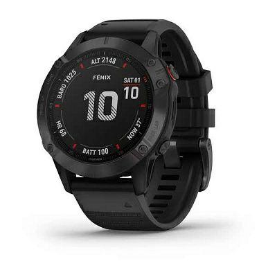 Годинник Garmin fenix 6 Pro чорний з чорним ремінцем :010-02158-02
