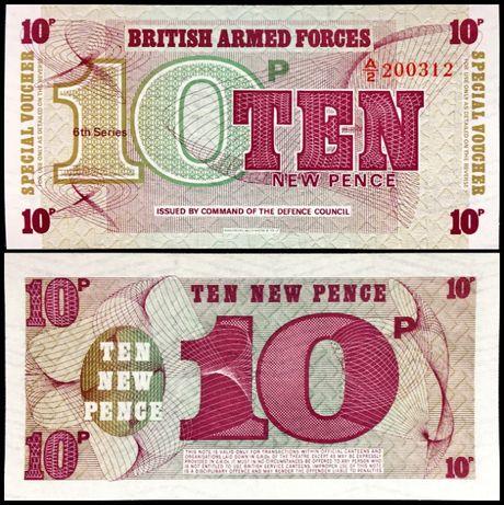 Banknot Anglia 10 Pensów 1972 UNC P-M48
