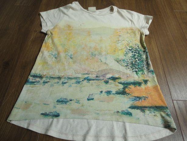 """TAM.8A (128cm) - T-shirt ZARA GIRLS """"Paisagem"""""""