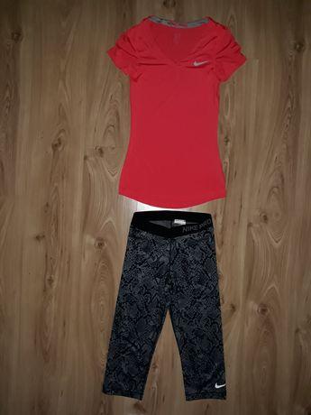 Zestaw damski Nike Pro XS/S koszulka legginsy USA