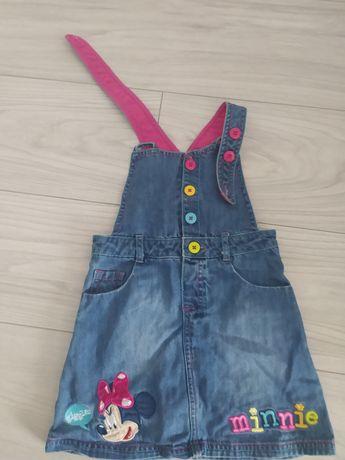 Sukienka ogrodniczka minnie Disney rozm. 98 jeans
