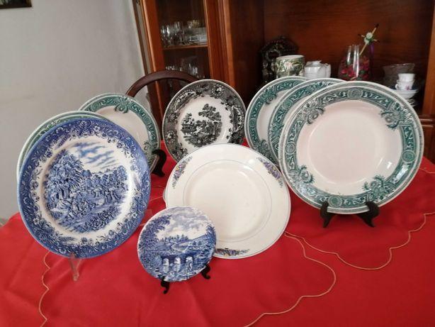 Pratos decoração antigos