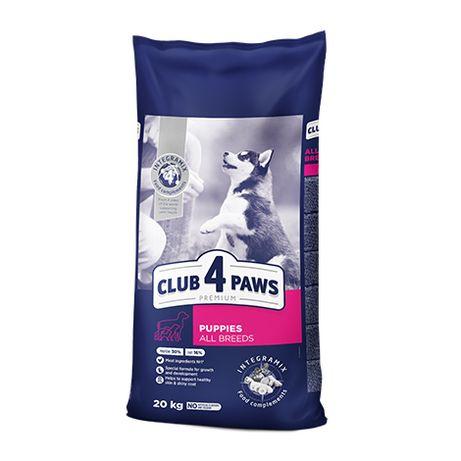 """Club 4 Paws Premium Для цуценят всіх порід """"З вис. вмістом курки"""".20кг"""