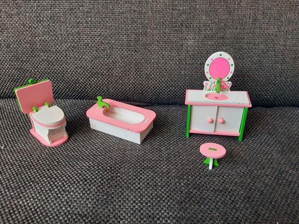 Lalka Evi zestaw mebli Barbie lalki domek łazienka toaletka wc wanna