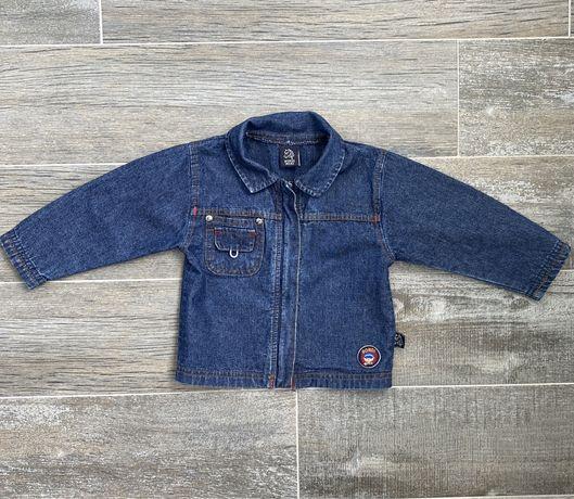 Джинсовый пиджак на мальчика 6-9 мес