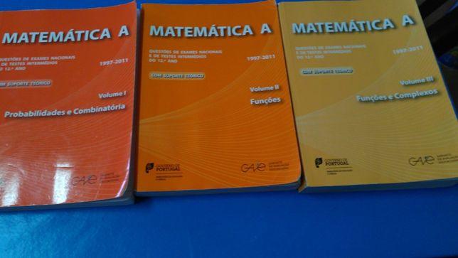 Matematica A 12º ano GAVE - 3 volumes