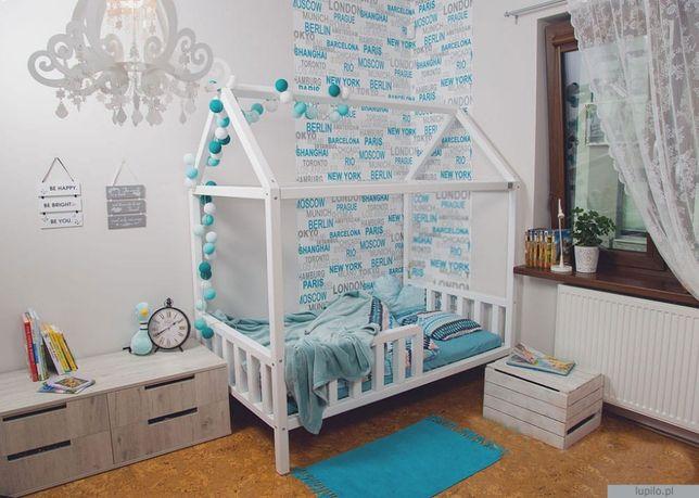 Łóżko dziecięce DOMEK DREWNIANY