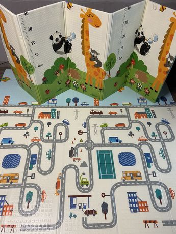 Акция!200×180детский термоковрик,коврик для игр и ползания с сумочкой