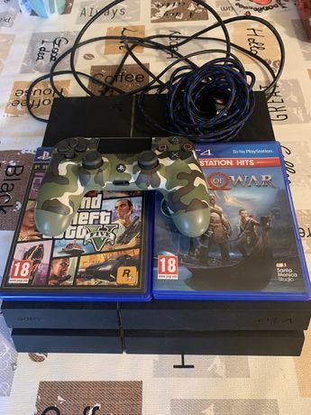 Playstation 4 mais comando e jogos