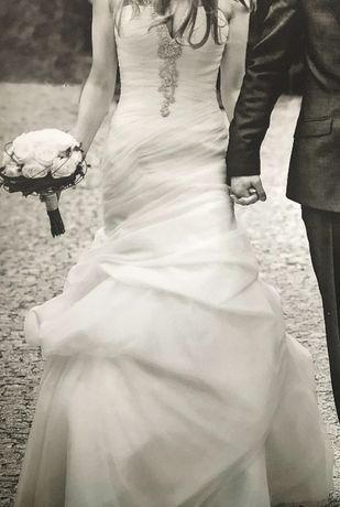 Suknia ślubna hiszpańskiej firmy Pronovias model Baronia