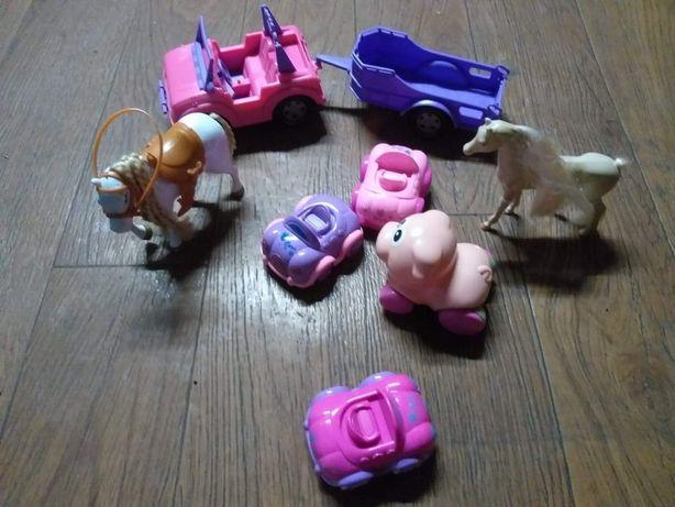 Zabawki dla dziewczynki autka, koniki