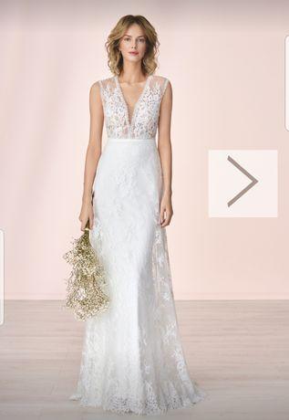 Delikatna boho suknia ślubna Elizabeth Passion 4033T rozm 36