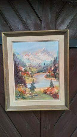 Obraz olejny krajobraz górski