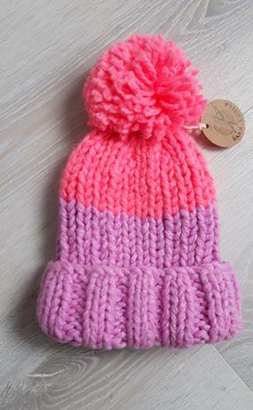 Теплая шапка для девочки 7-8лет