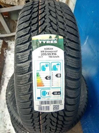 Зимние шины 205/55 R16 Nokian WR Snowproof - 2020,РАССРОЧКА 0, НП -30%