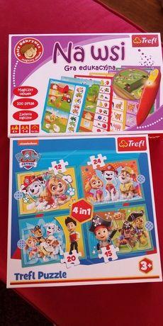 Gra edukacyjna+puzzle Psi Patrol
