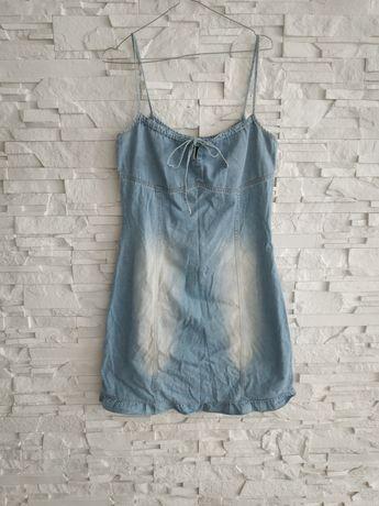 H&M Sukienka z cienkiego jeansu 38-40