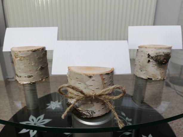 Drewniane podstawki pod winietki