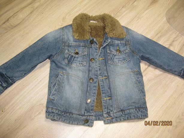 kurtka jeansowa ocieplana Cherokiee r.104