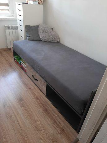 Łóżko pojedyńcze z materacem