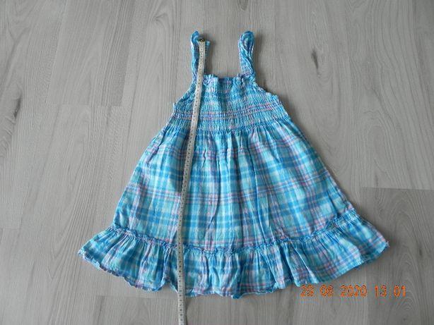 sukienka w kratkę roz.122/128