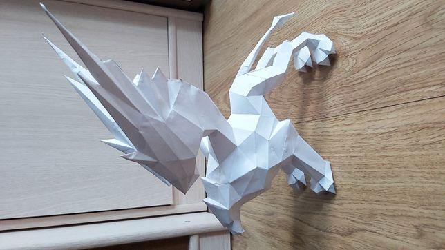 Jedyna taka Figurka, rzeźba z papieru gryf OKAZJA