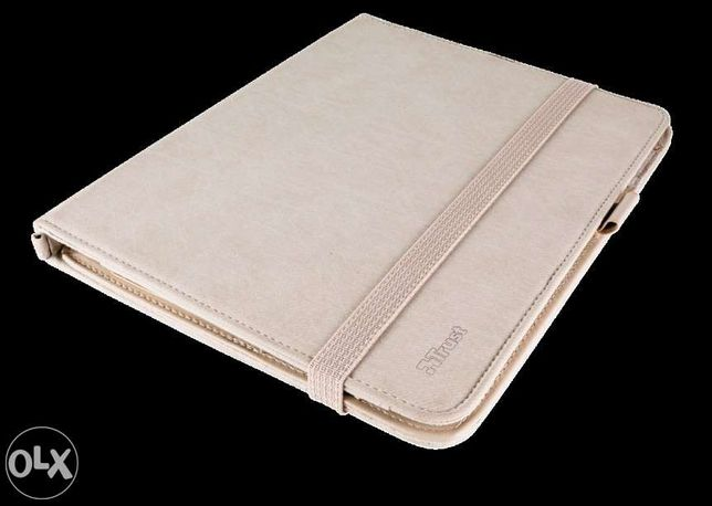 Capa premium folio stand Trust p/iPad sand nova