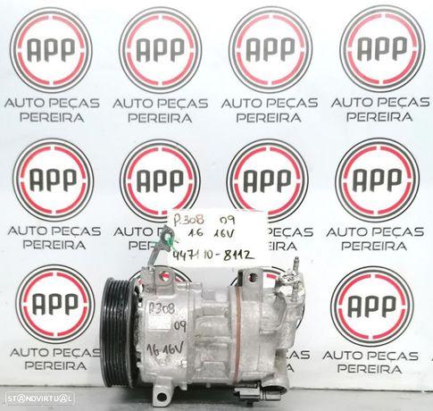 Compressor ar condicionado PSA Peugeot 308 1.6 16V referência 30847190-8112