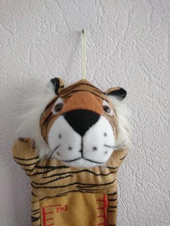 Тигр мягкая игрушка измеритель роста