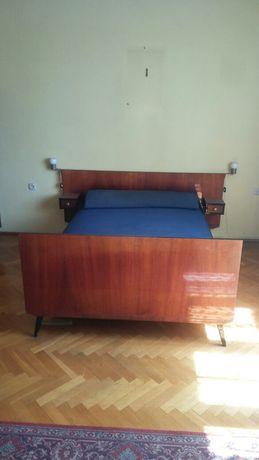 Łóżko 140/190 drewniane lakierowane lata 70te